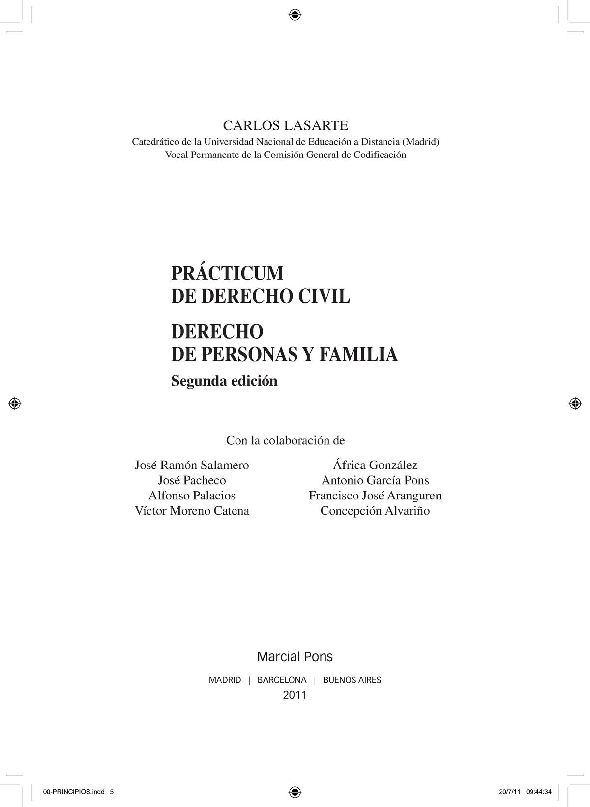 Prácticum De Derecho Civil Derecho De Personas Y Familia Studocu