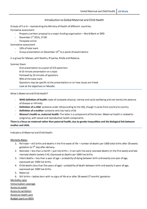 Lecture notes, lecture All lectures and tutorials - CIHD3005
