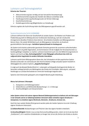 Erziehungswissenschaft zusammenfassung - Einführung in die ...