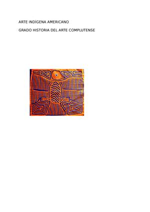 Arte Indígena Americano - 801673: Arte Indígena Americano - StuDocu
