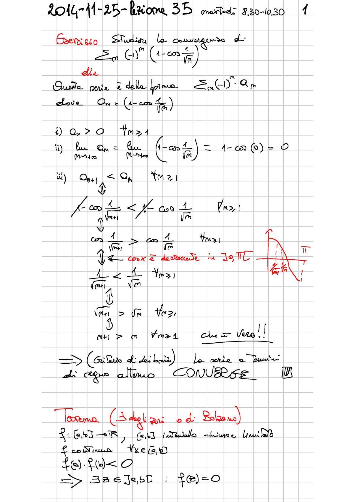Teorema Dei Valori Intermedi.Appunti Analisi Matematica I Corollario Del Teorema Di