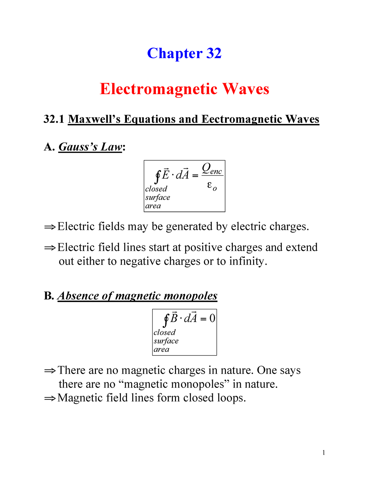Chapter 32 Zemansky nuevo - PHYS A285: Calculus Based