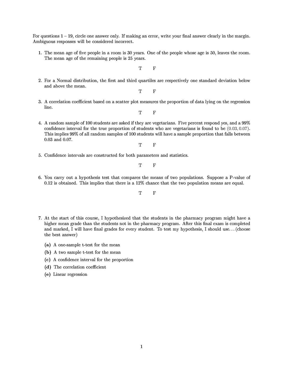 Exam 2018 - STAT 200: Elementary Statistics for Applications - StuDocu