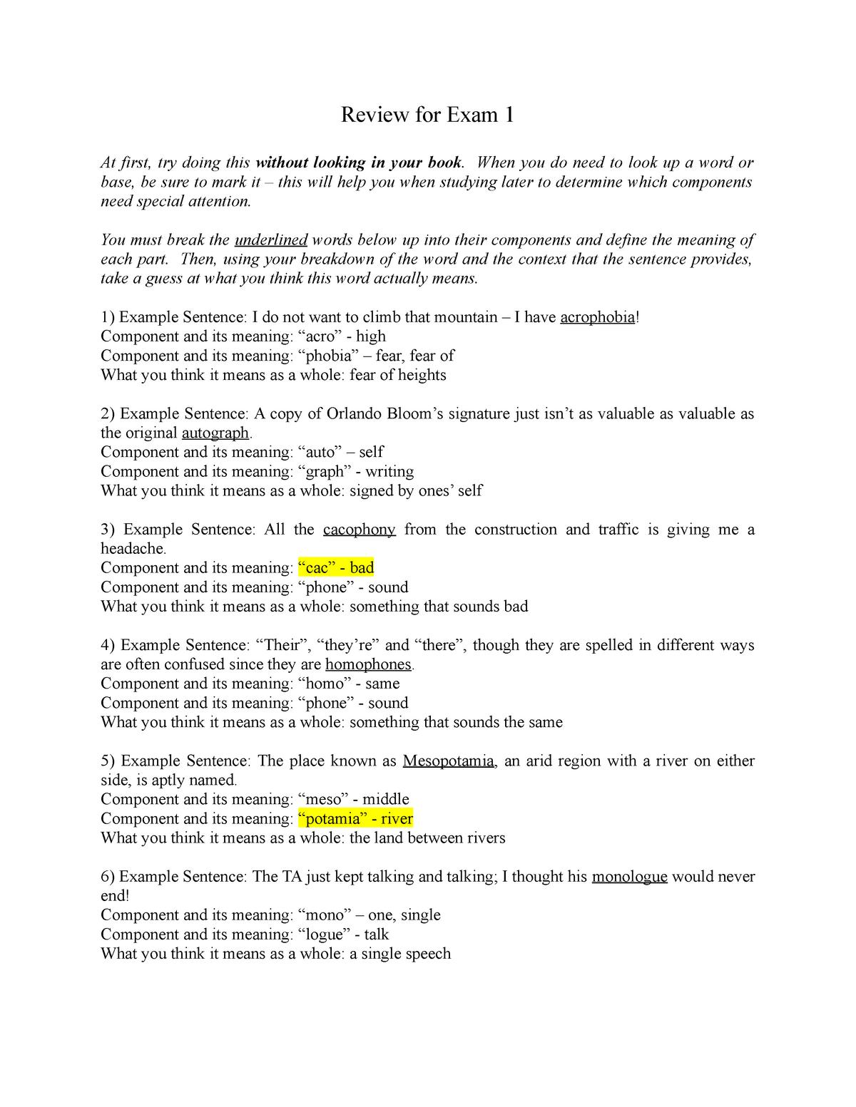 CLAS 101 - Exam 1 Review - CLAS101 - StuDocu