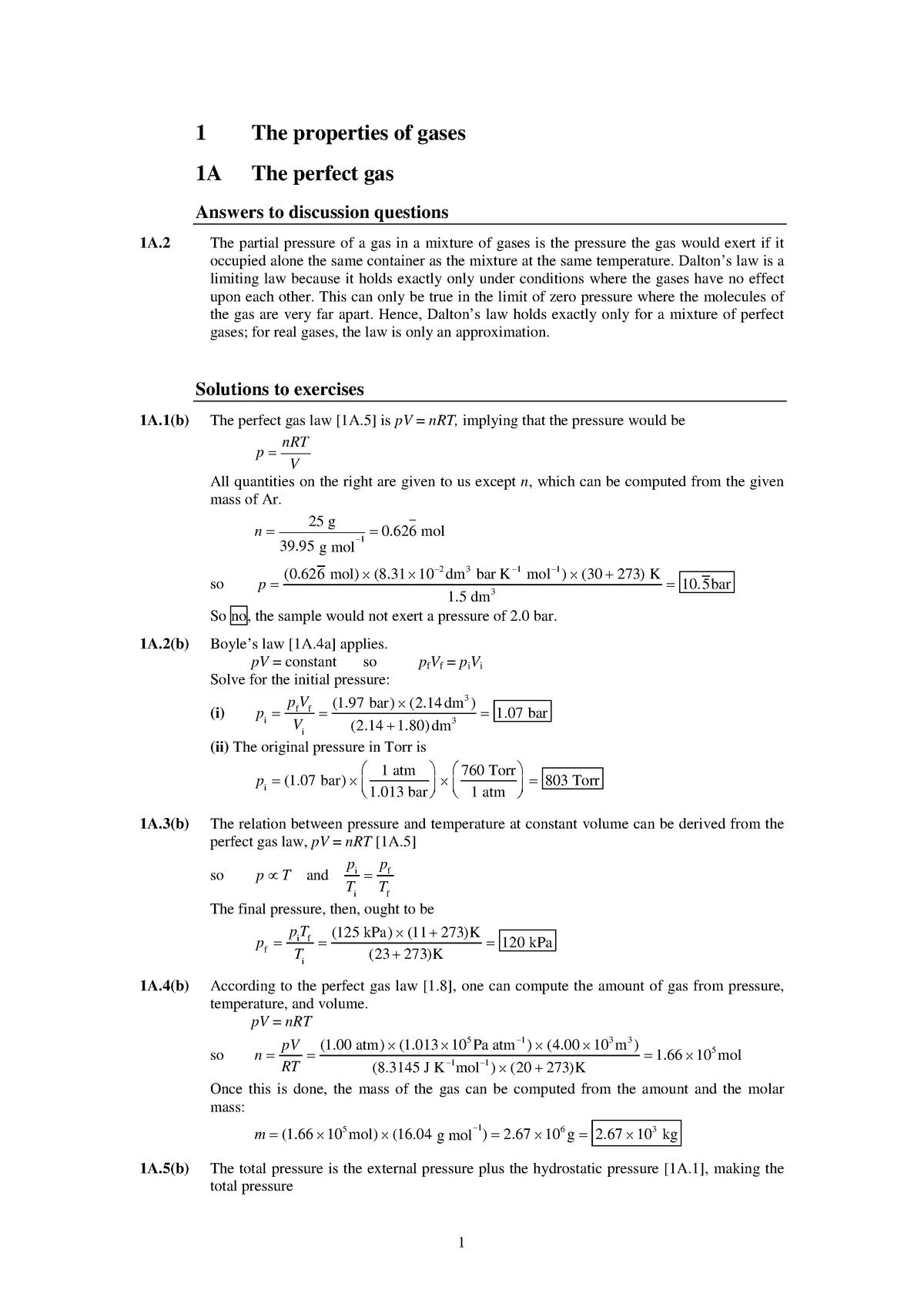 pre ap chemistry homework 10d