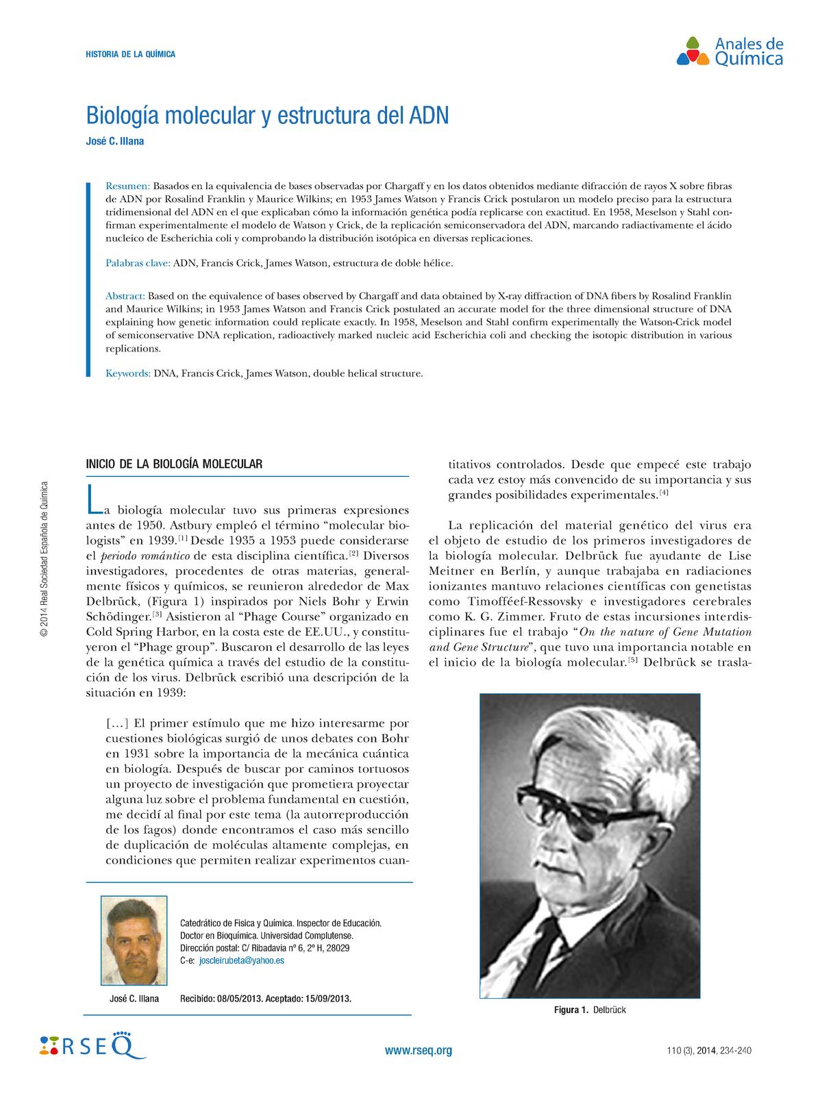 Dialnet Biologia Molecular Yestructura Del Adn 6072412