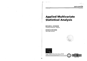 applied multivariate statistical analysis classic version 6th edition
