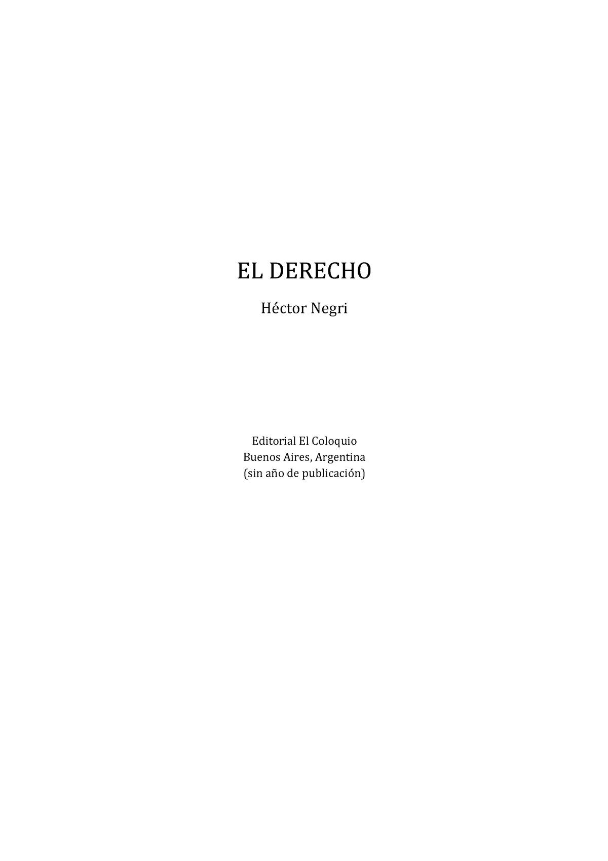 95307862 El Derecho Negri 2c Hector Studocu