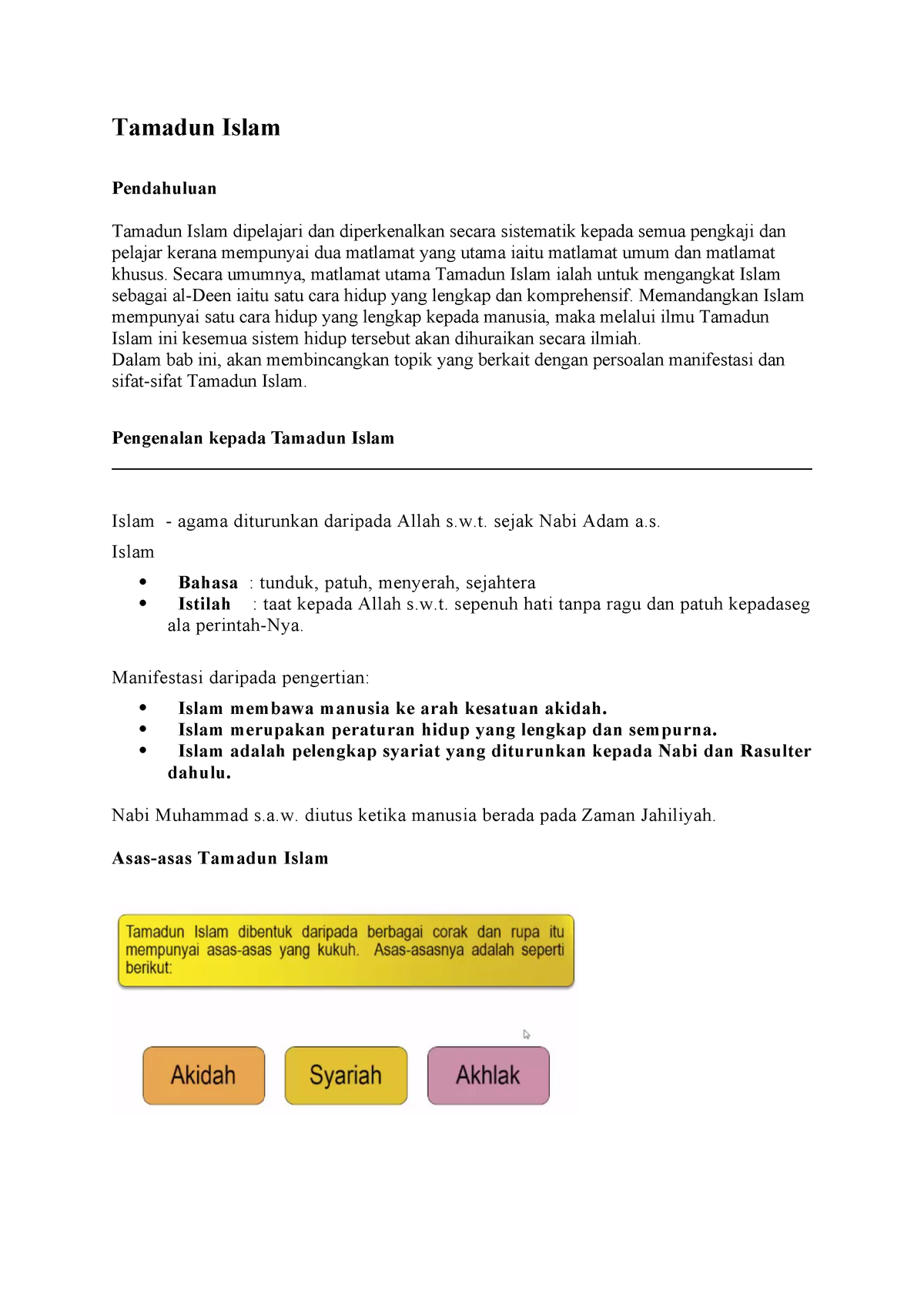 Bab 2 Lecture Notes 2 Islamic And Asian Civilization Studocu