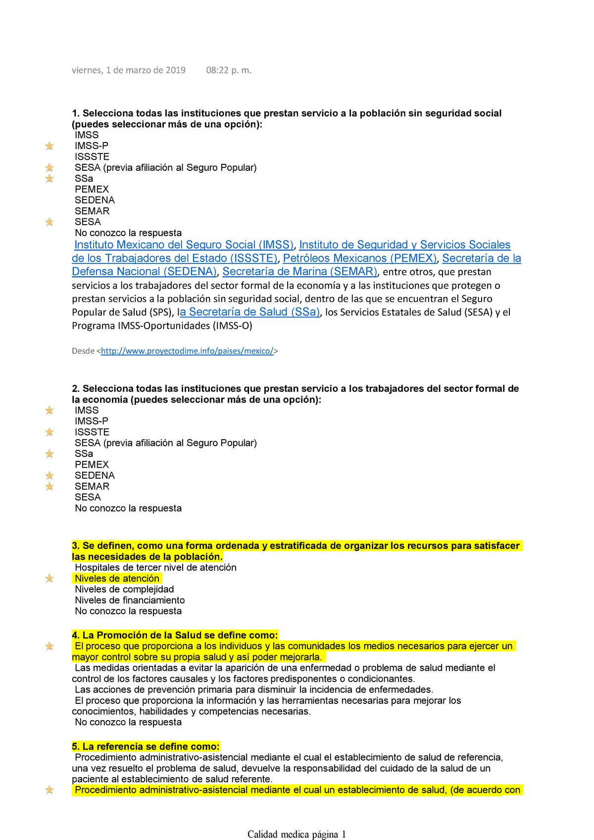 Examen 9 Marzo 2019 Preguntas Y Respuestas Studocu
