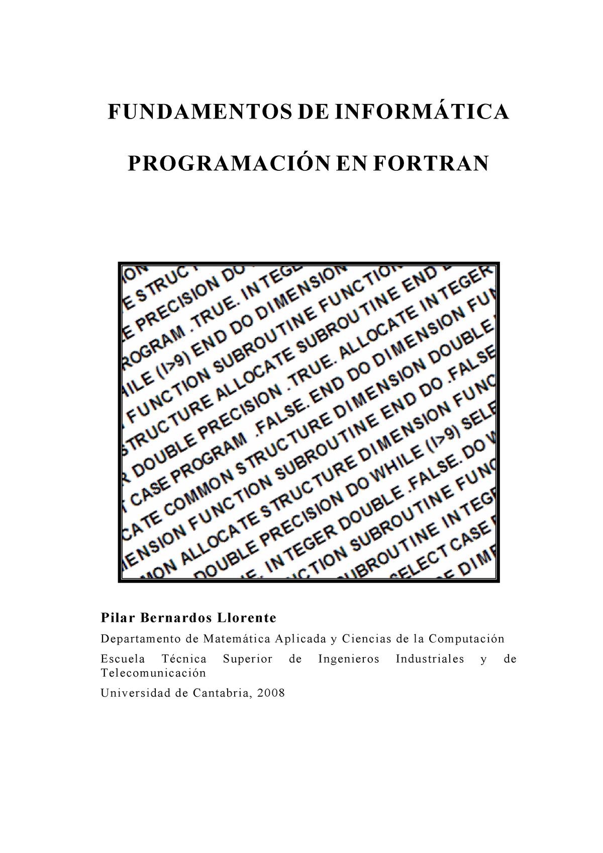 Curso - de - Fortran - 214 13320: Programación - StuDocu