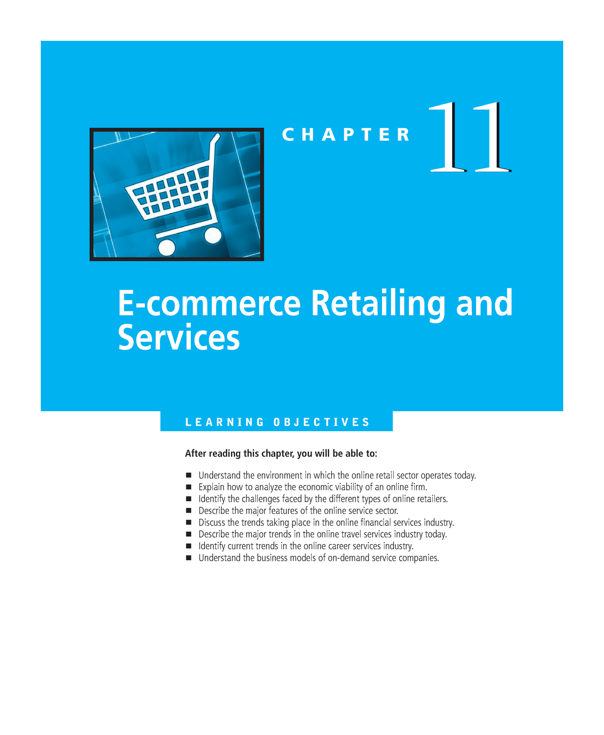Chapter 11 e Commerce Retailing and Services - 031254 : e-Commerce