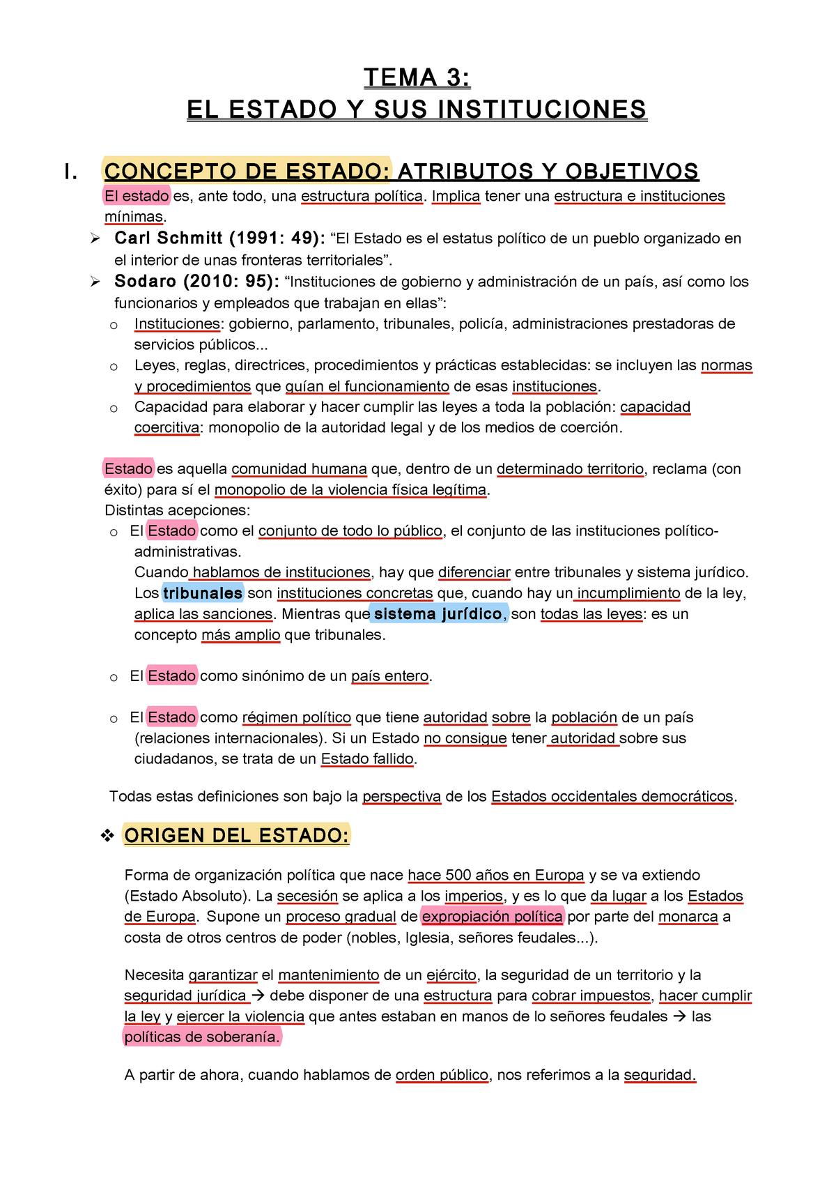 El Estado Y Sus Instituciones 2135003 Urjc Studocu
