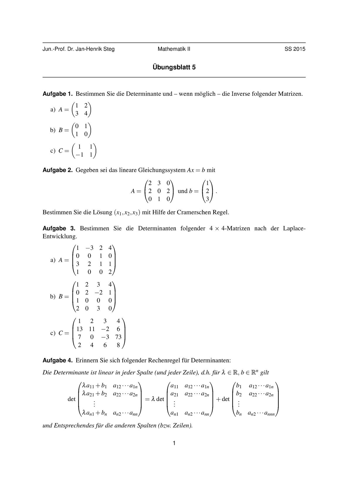 Matrix invertieren rechner
