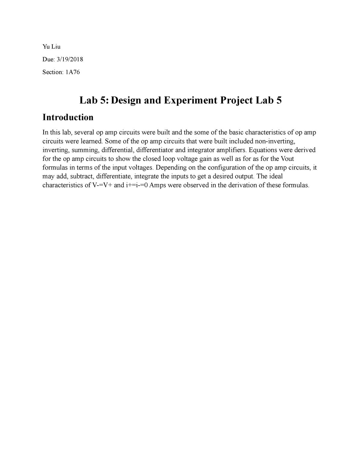EEE3308 Lab 5 - Homework assignment for Allen Turner - EEE