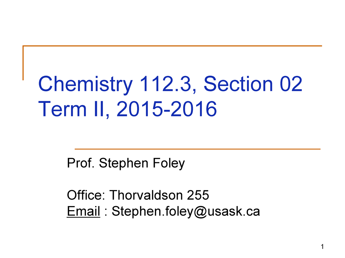 Lecture Notes, Ch  1-11 - Chem 112 3: General Chemistry I Structure