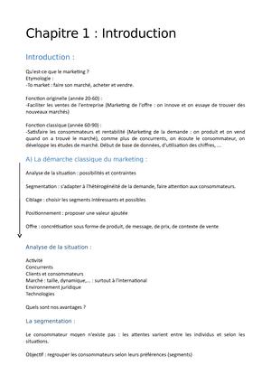 hot sale online 15f7e 6896c Marketing - Notes de cours 1 - GS00303V Marketing - StuDocu
