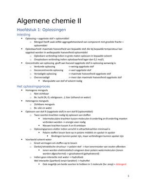 Hoofdstuk 1 Samenvatting Algemene Chemie Ii Studocu