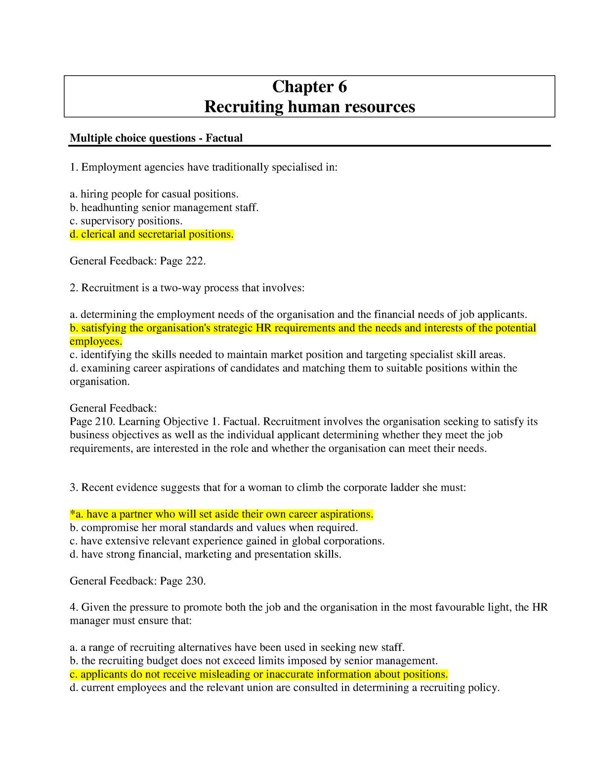 Chapter 6 - Recruiting human resources - BX2051:03 - JCU