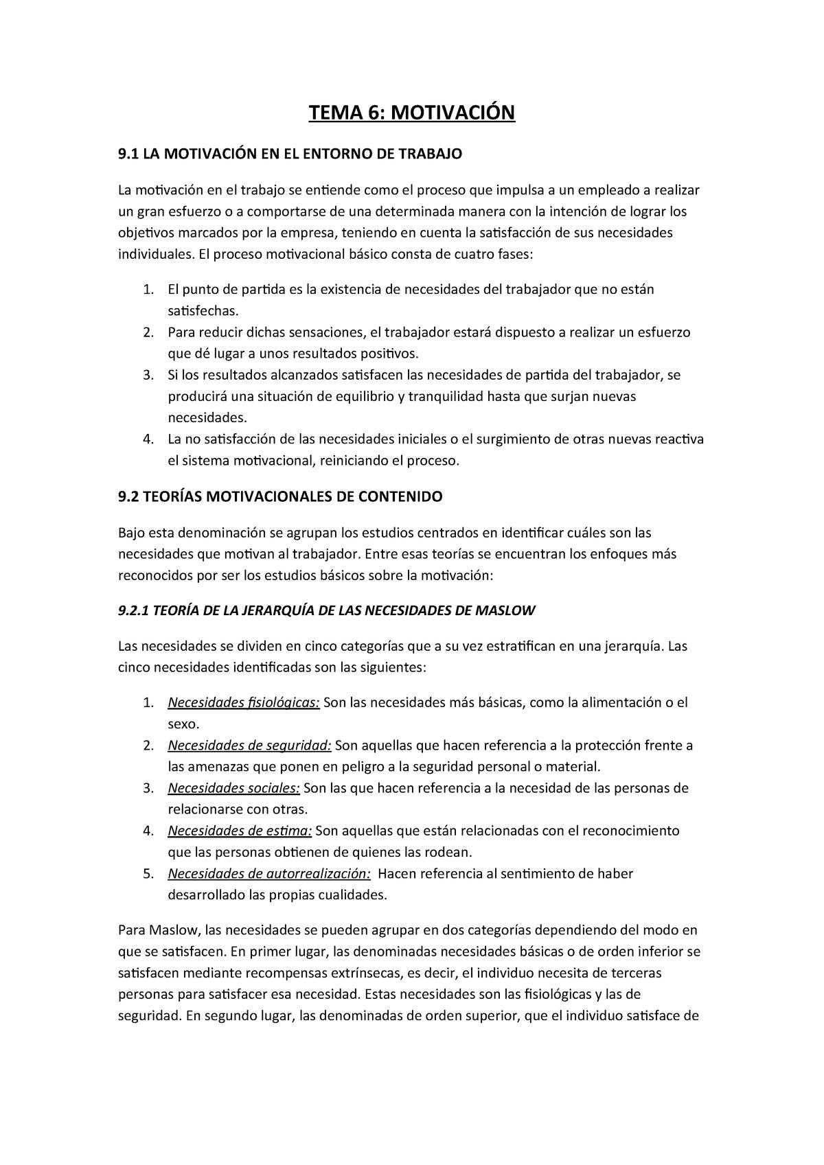 Dirección Y Administración De Empresas Apuntes Tema 6