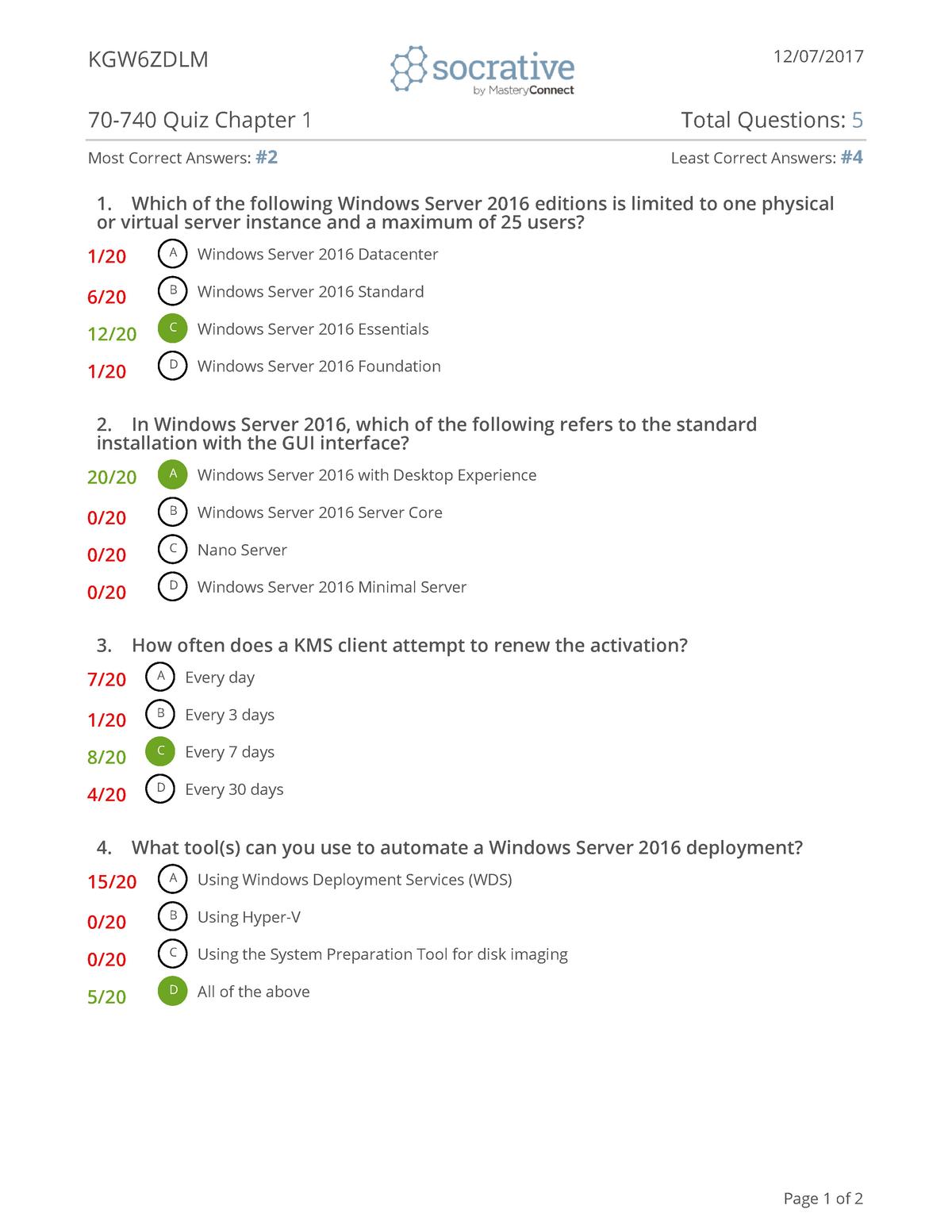 Tentamen 2018 - 1: Microsoft - StudeerSnel nl
