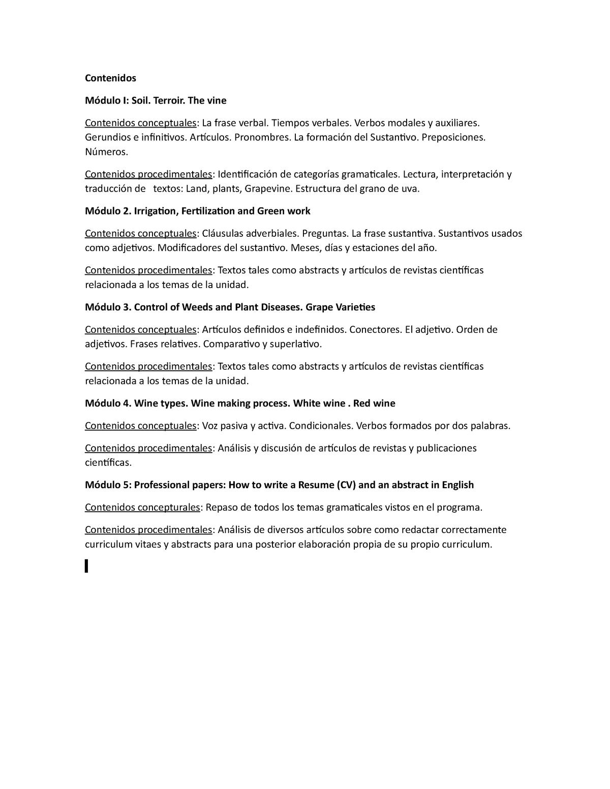Teoria Inglés 534 Studocu