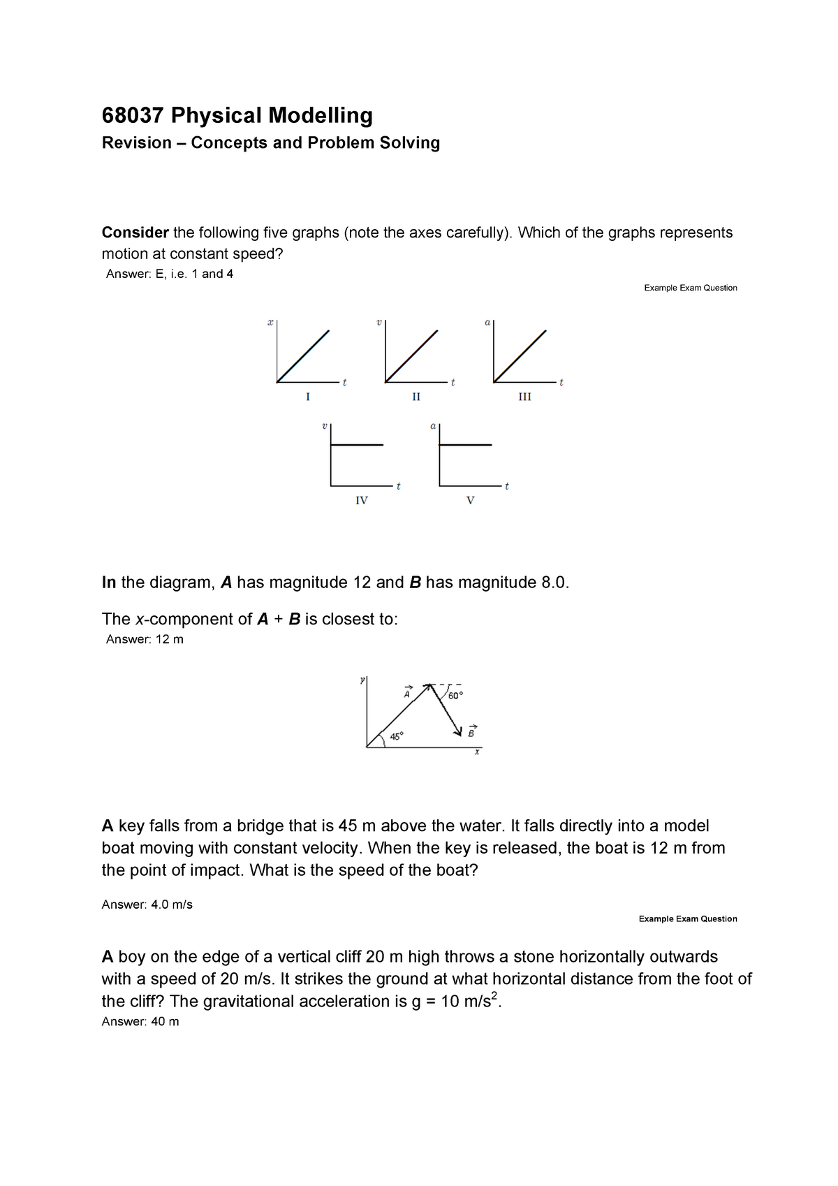Practical - Revision  U2013 Concepts And Problem Solving - Uts