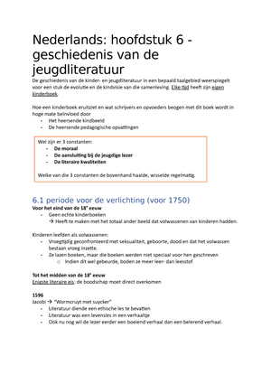 samenvatting hoofdstuk 6 nederlands 1