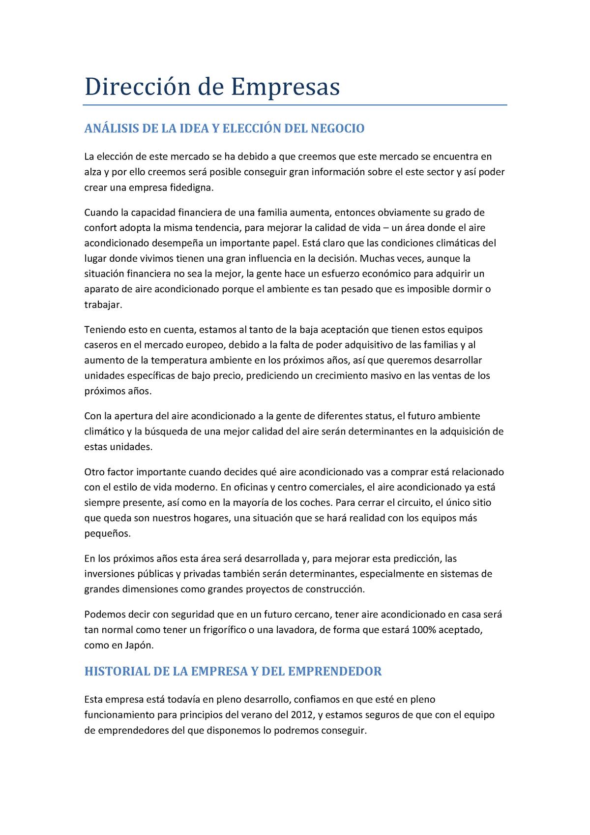 Trabajo Direccion De Empresas Trabajo Tutorial 5 Y 6