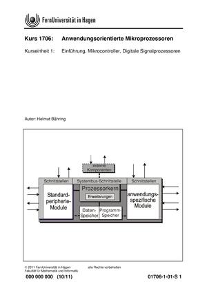 Seminaraufgaben - kurseinheit 1-7 - 01706: Anwendungsorientierte ...