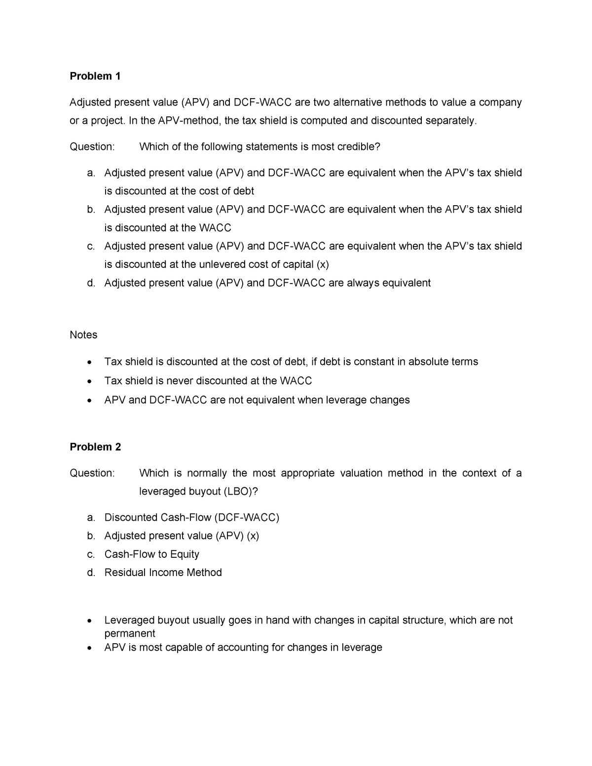 Exam 2015 - FEB13060: Corporate Finance - StuDocu