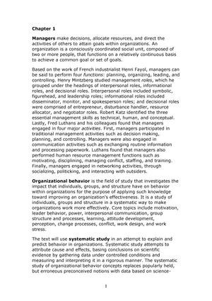 conclusion organizational behavior