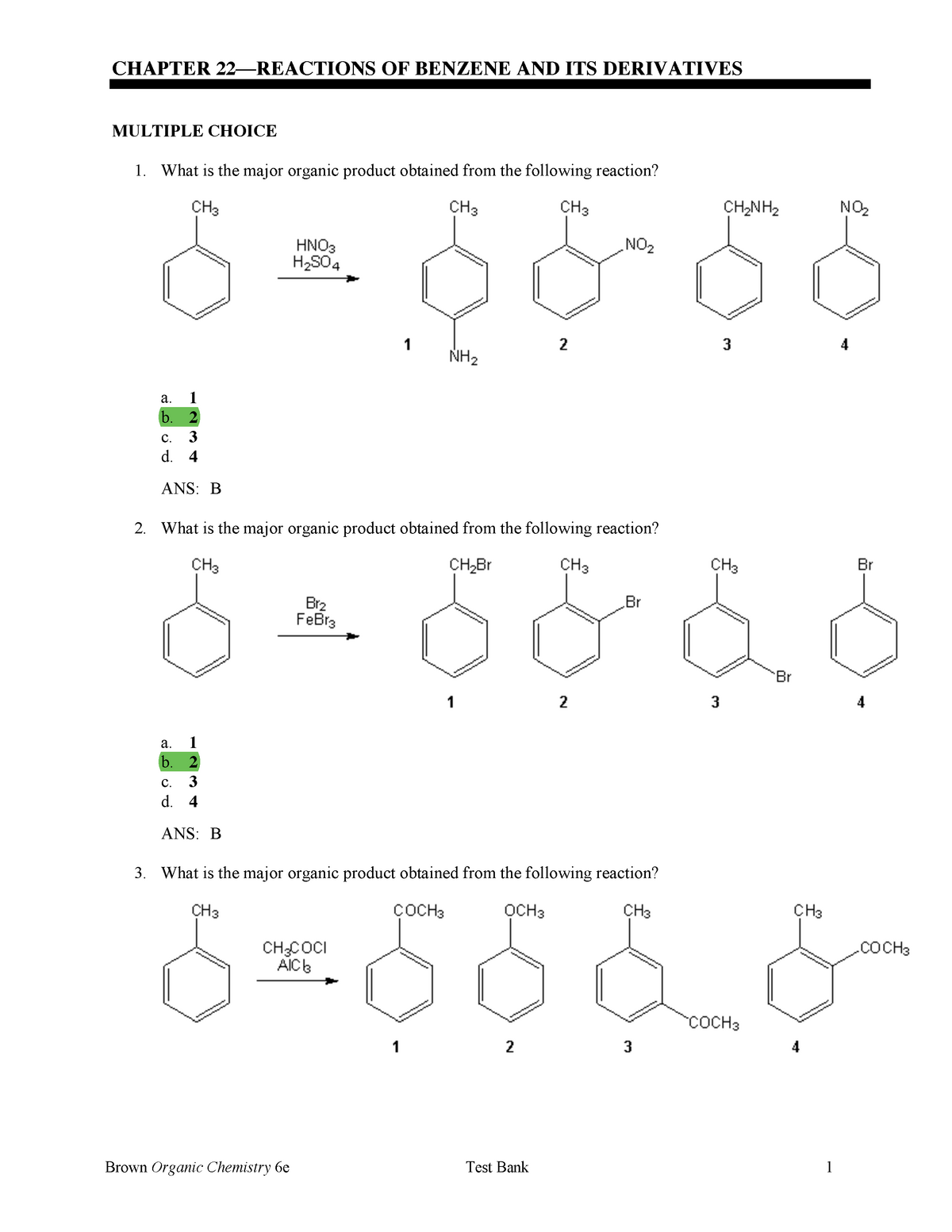Chapter 22 Review Questions - CH 237: Organic Chemistry II - StuDocu