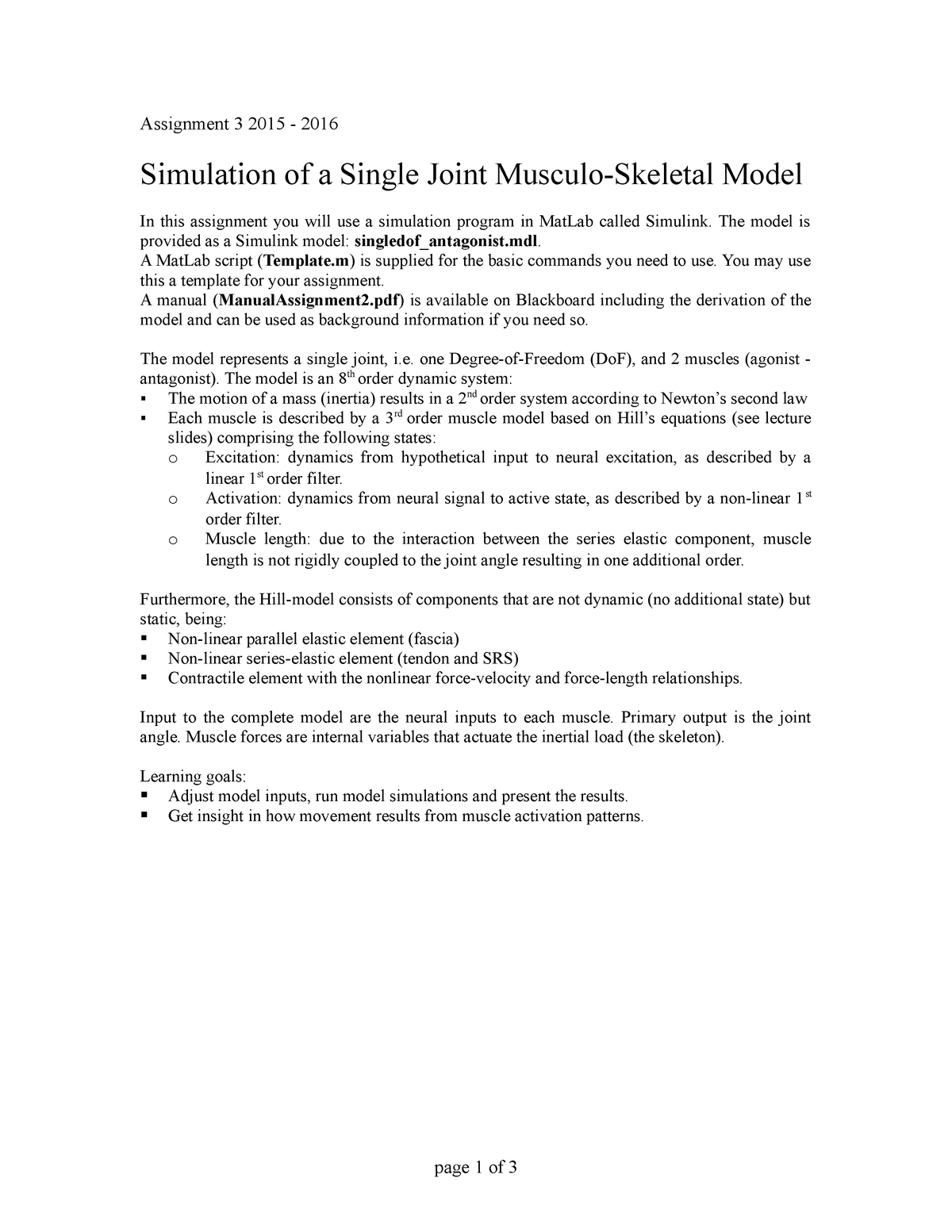 Practical - Assignment 3 Elbow Model - BM3102A