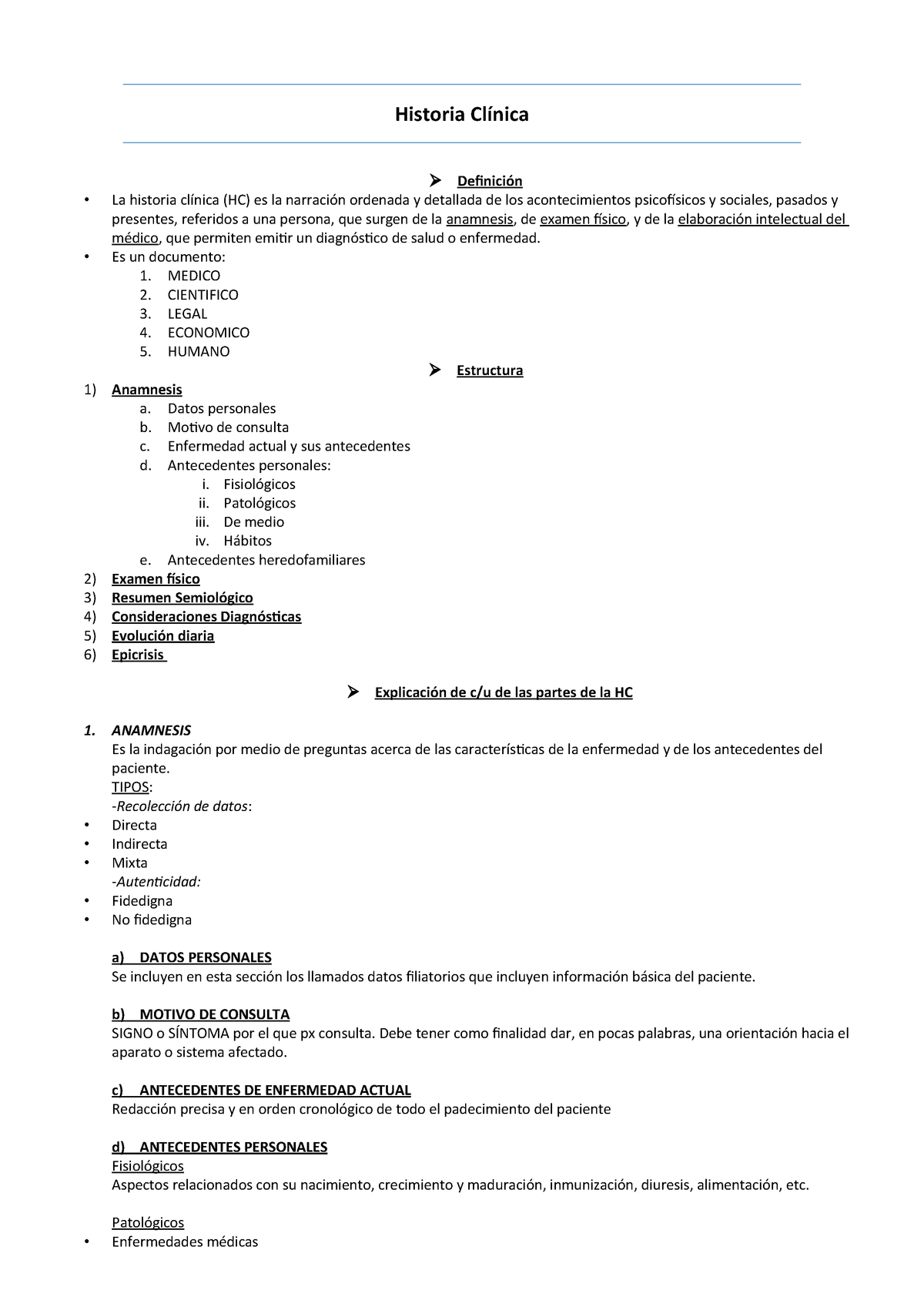 Historia Clinica Bioquimica Salud Publica 3450 Studocu