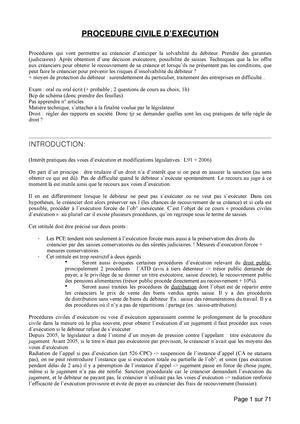 Procedure Civile Dexecution