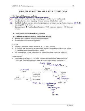 Chapter 10 - Lecture notes 10 - ENEV 440: Air Pollution Engineering