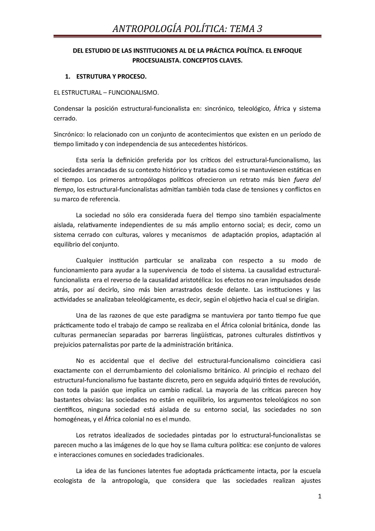Tema 3 Apuntes 3 Antropologia Politica Uned Studocu