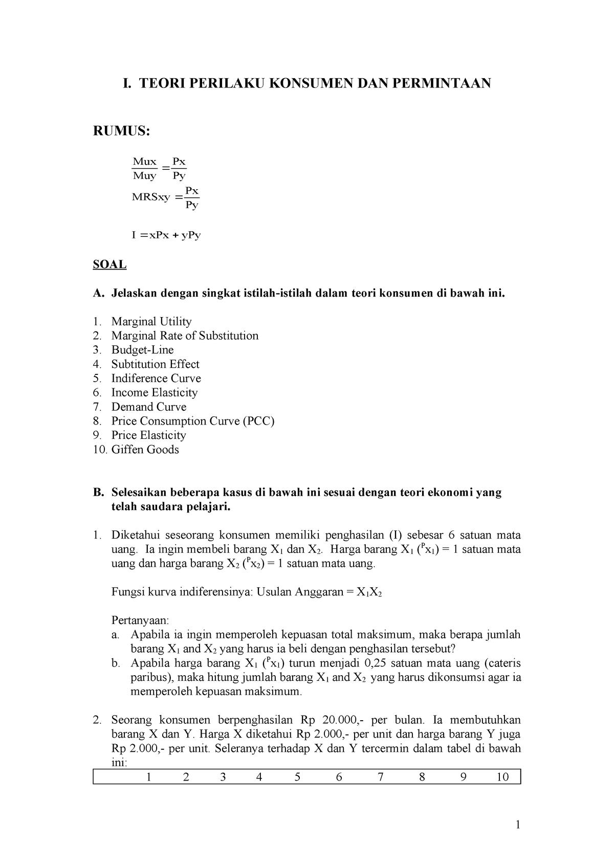 Soal-Jawab - Kuliah TEORI MAKRO1