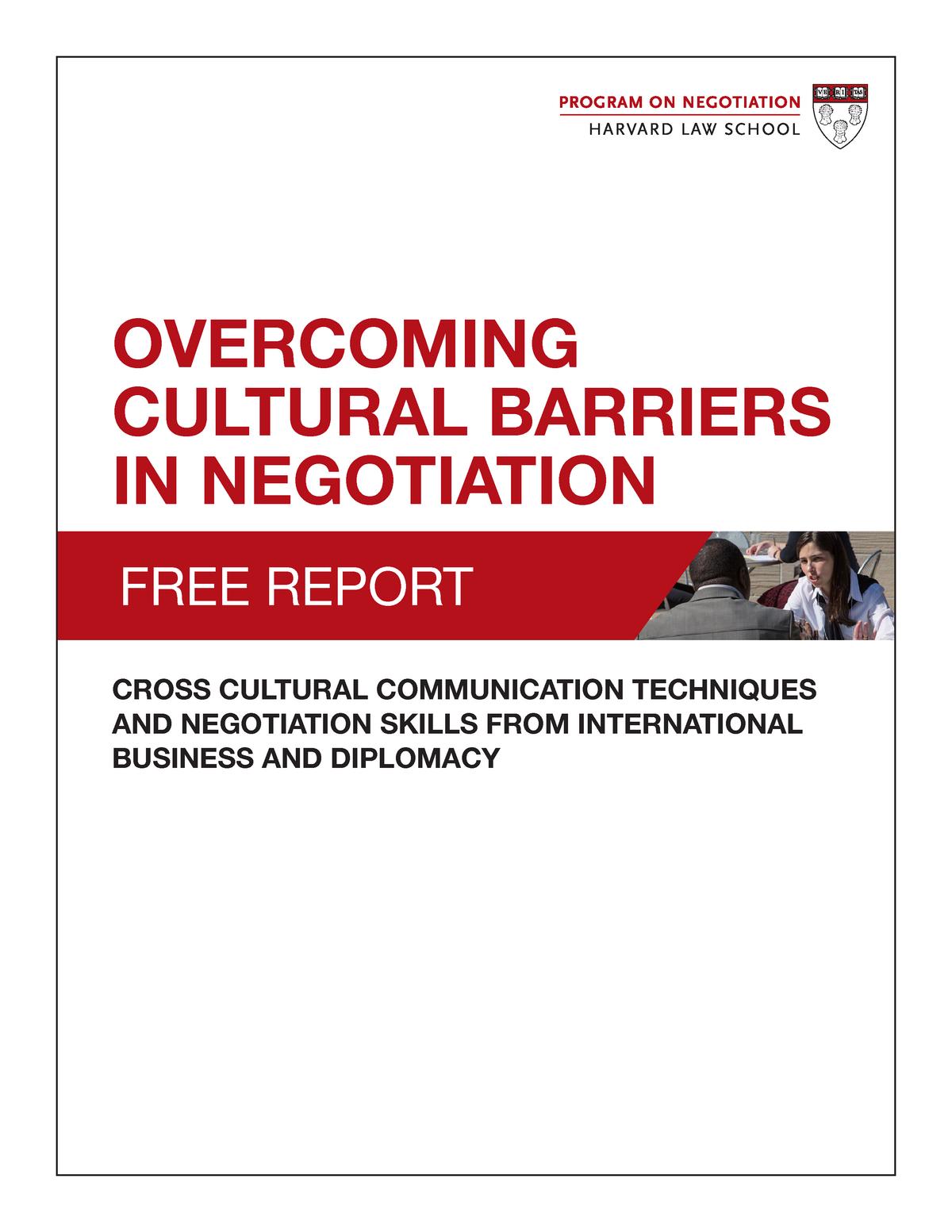Cross Cultural Communications techniques and negotiation skills