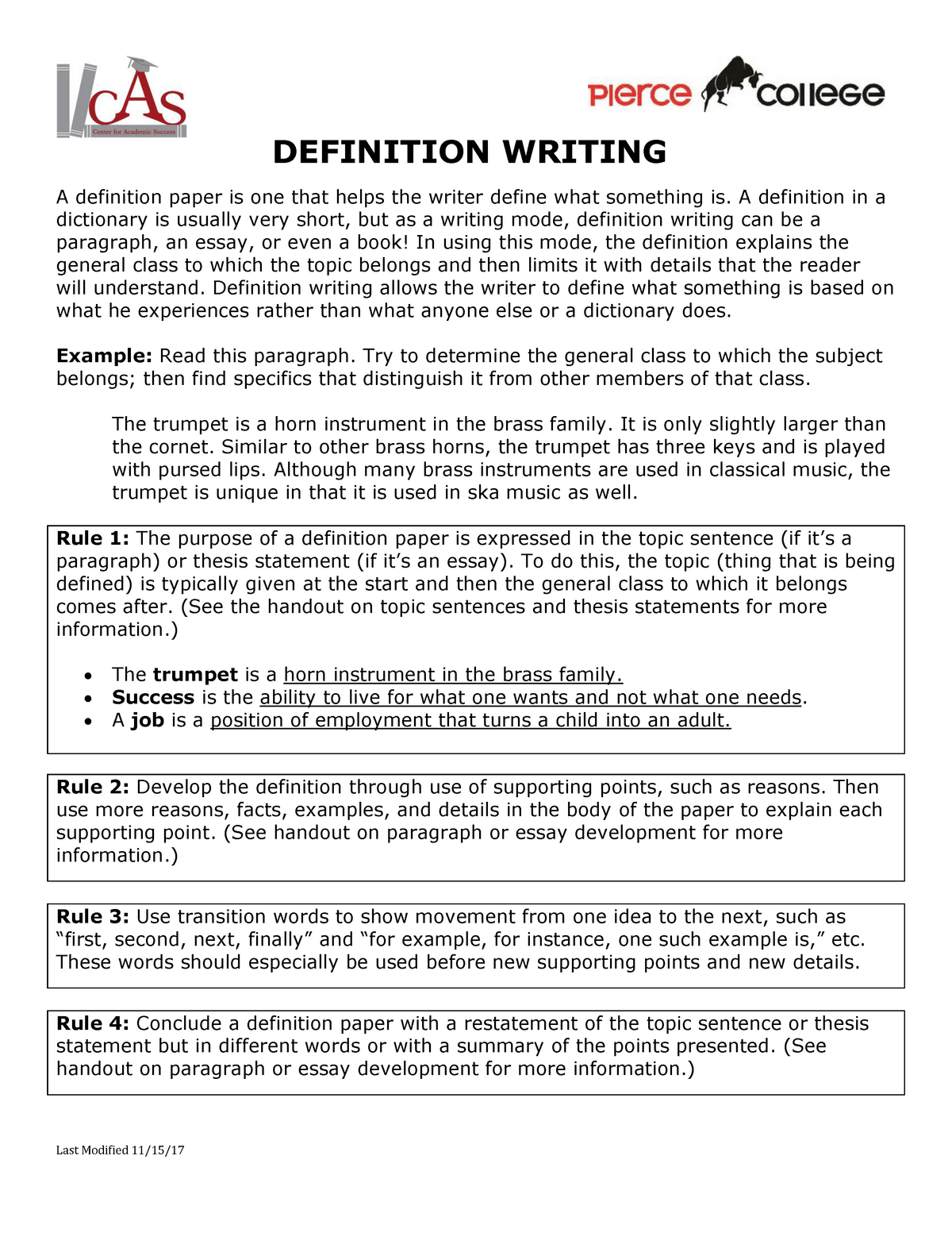 definition writing   eng  english   studocu
