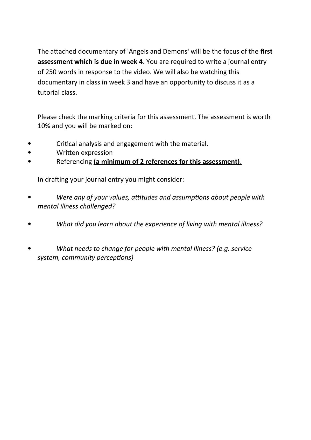 Assessment 1a Journal Entry 101594 Uws Studocu