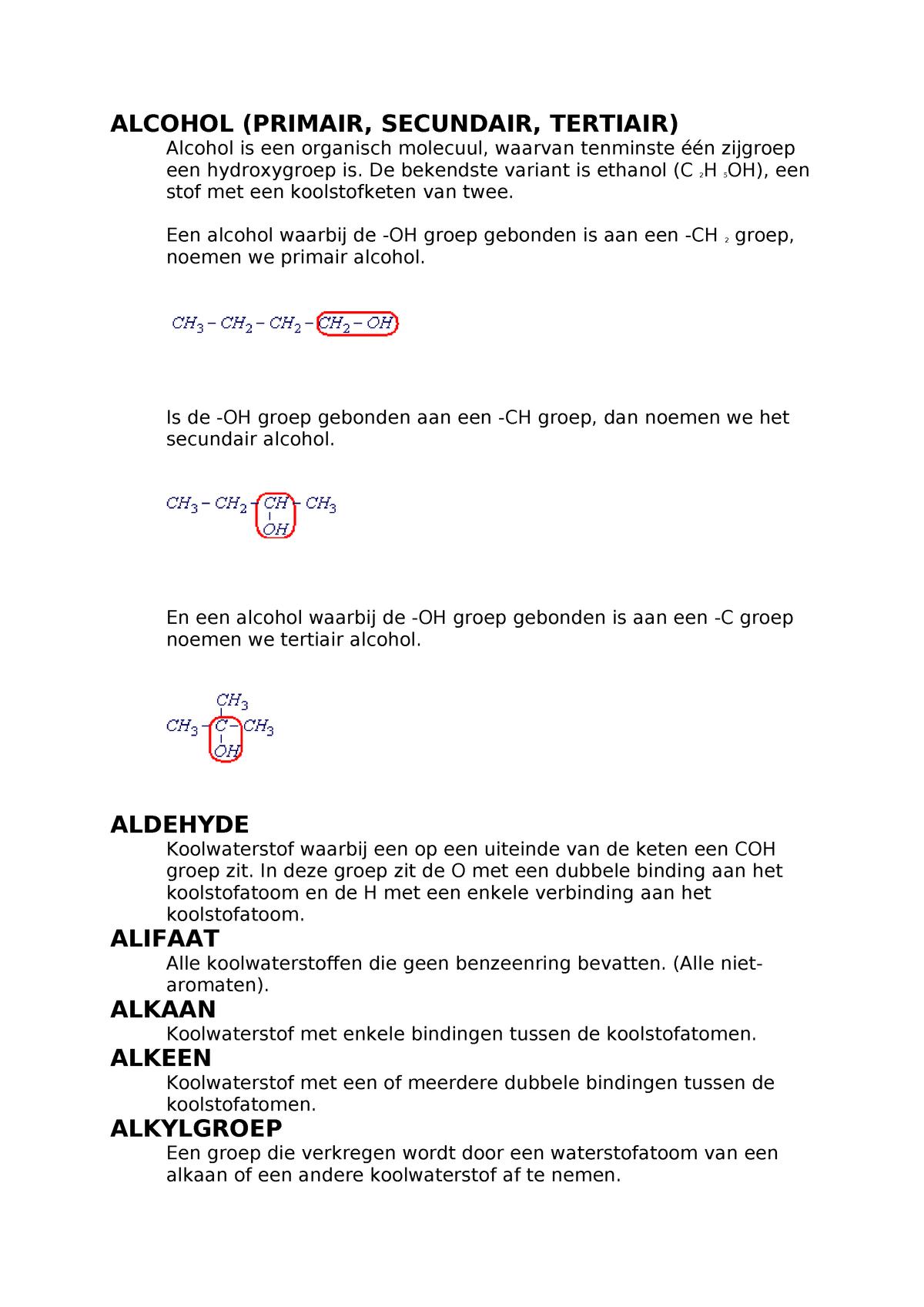 Organische Koolstof Chemie So 3 1810ch214z Studeersnel