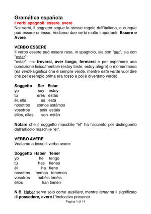 Spagnolo Lingua Spagnola Unimi Studocu