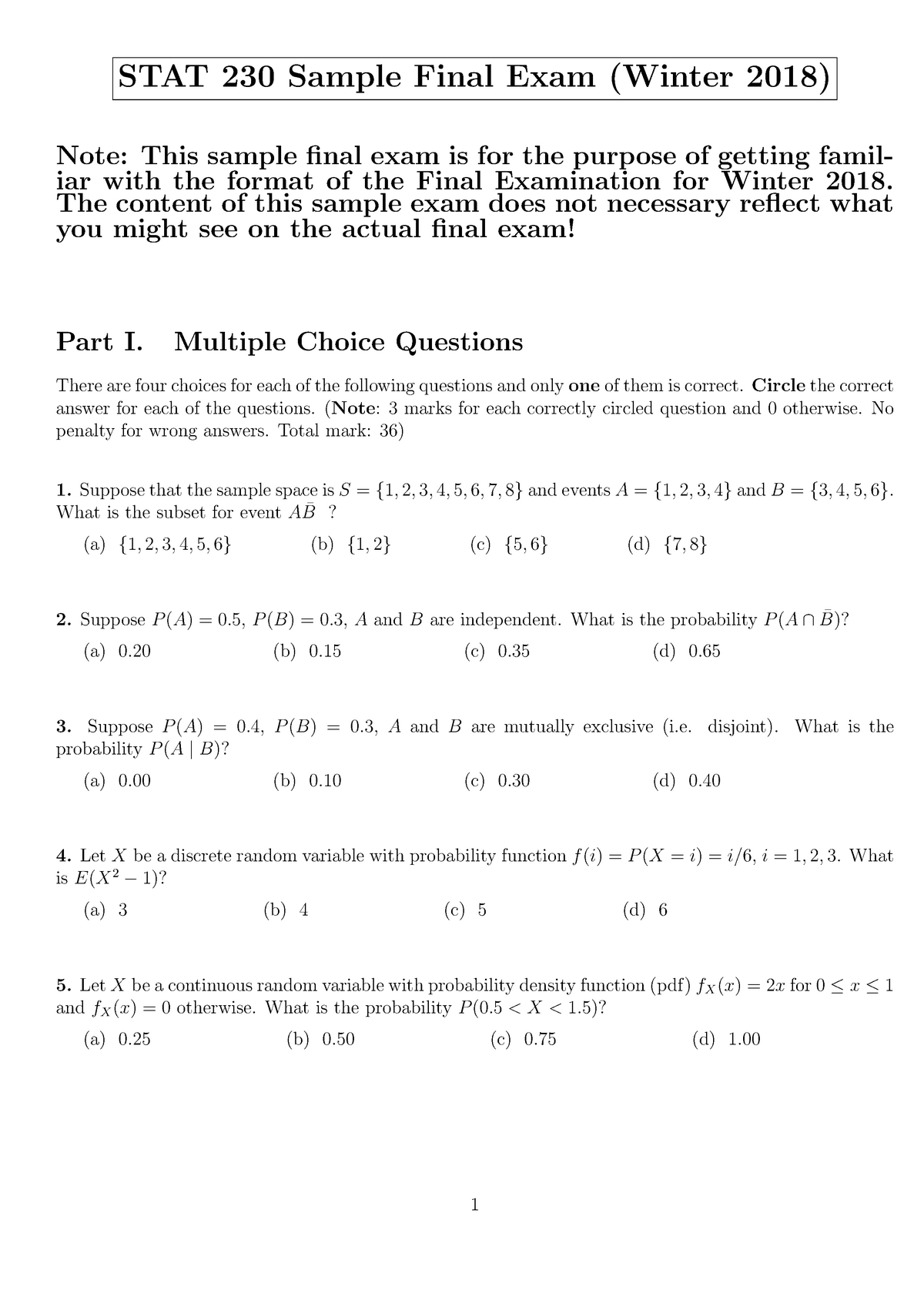 🐈 Discrete probability questions and answers pdf | MCQS probability