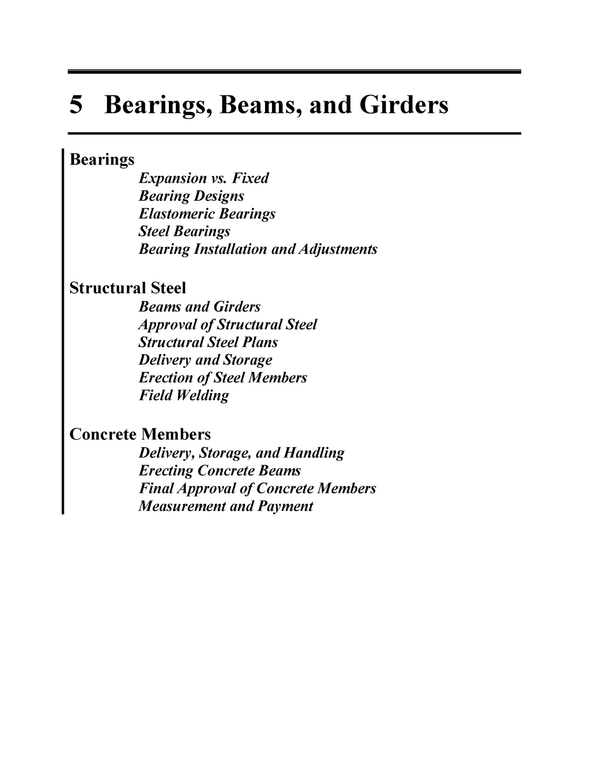 Bridge Design - Chapter 5 - Bearings Beams and Girders - Structural
