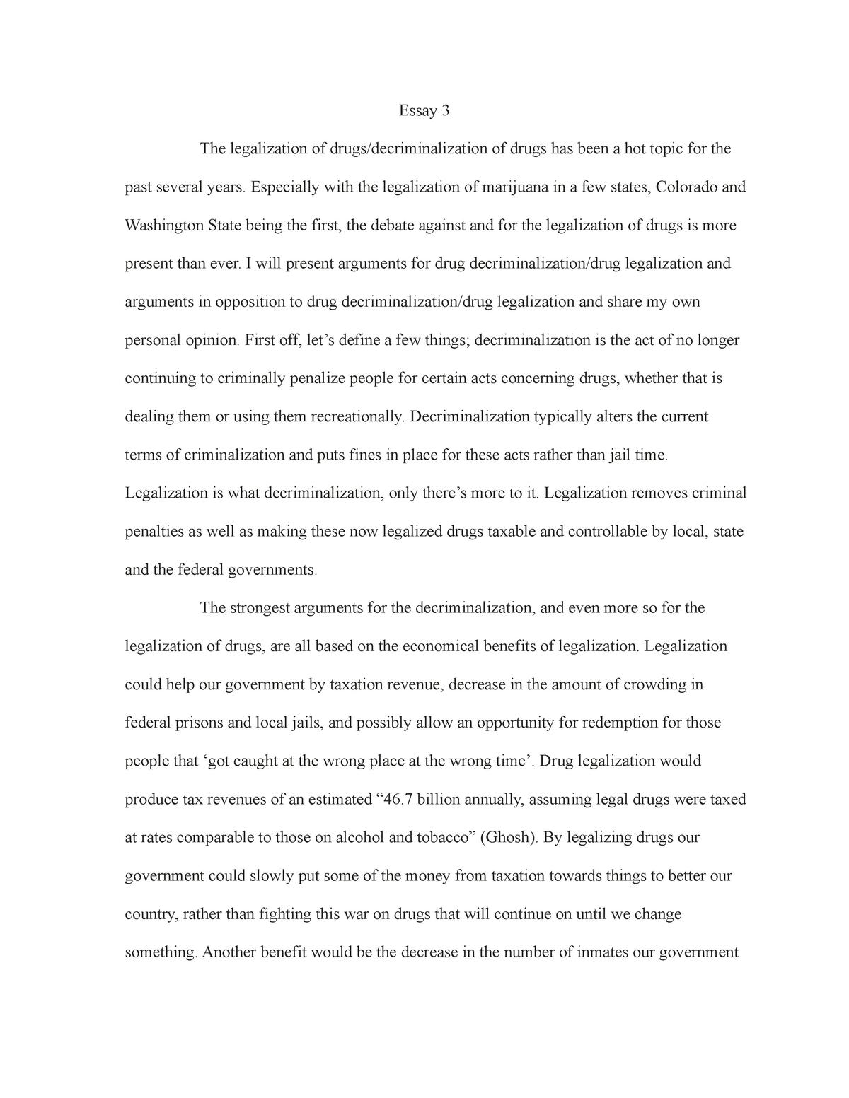 Essay about drugs legalization ideas contrast comparison essays