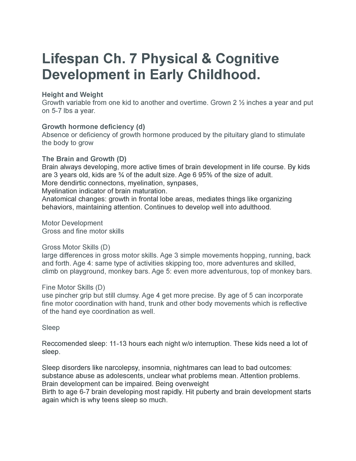 Attention Problems In Early Childhood >> Lifespan Ch 7 Physical Cognitive Development In Early Childhood