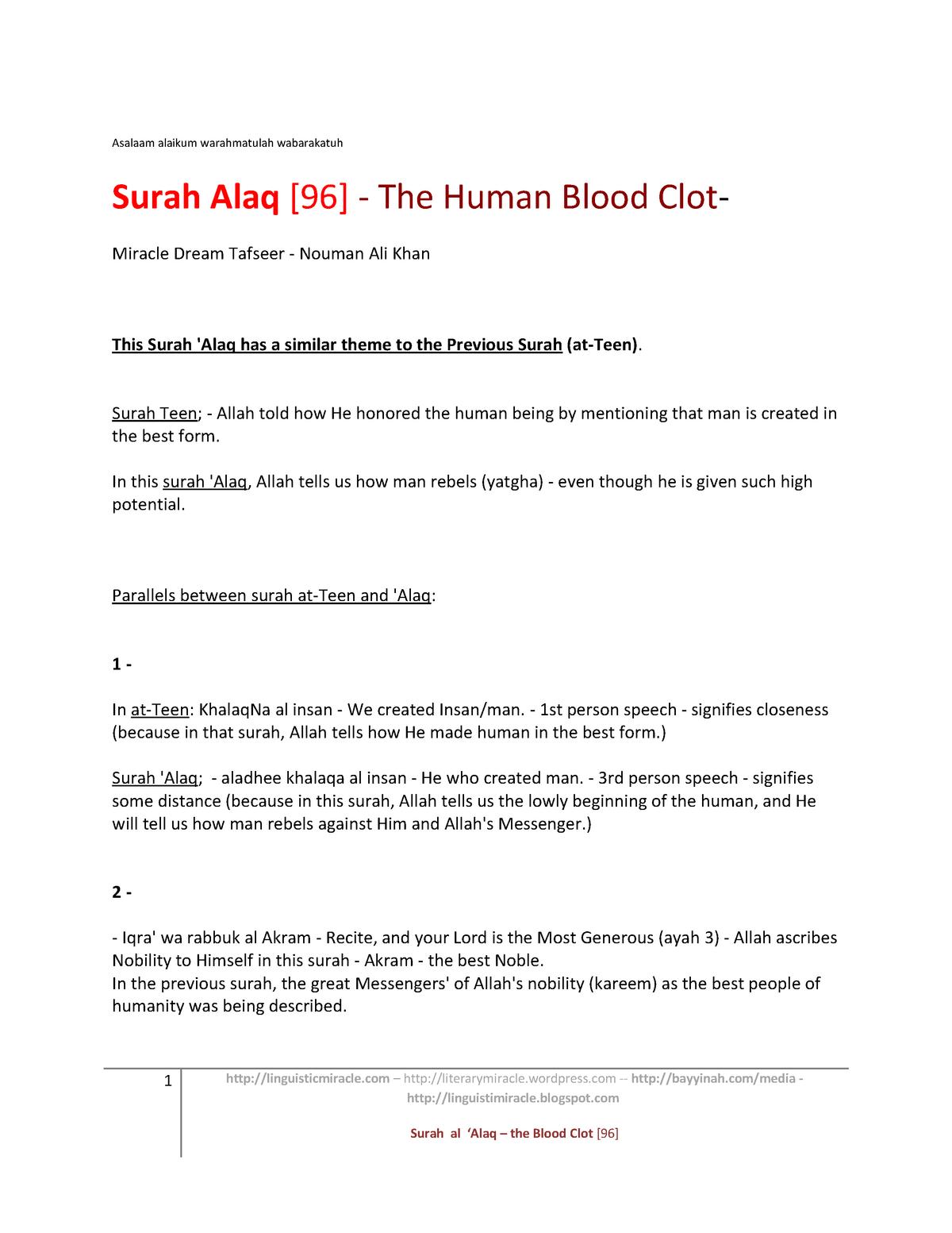 Summary - ARBC 402 Elementary Arabic Ii - UNH - StuDocu