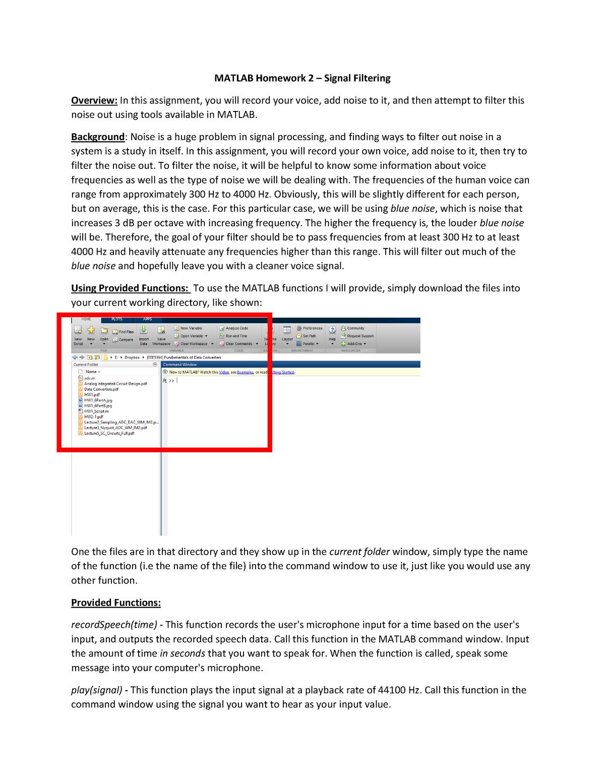 Matlab Assignment 2 - EEL 2000: Intro Elec & Comp Eng - StuDocu